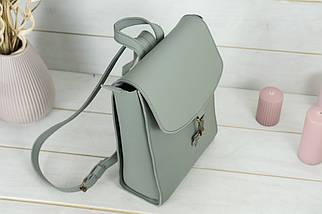 Жіночий шкіряний рюкзак Венеція, розмір середній, натуральна шкіра Grand колір Сірий, фото 2