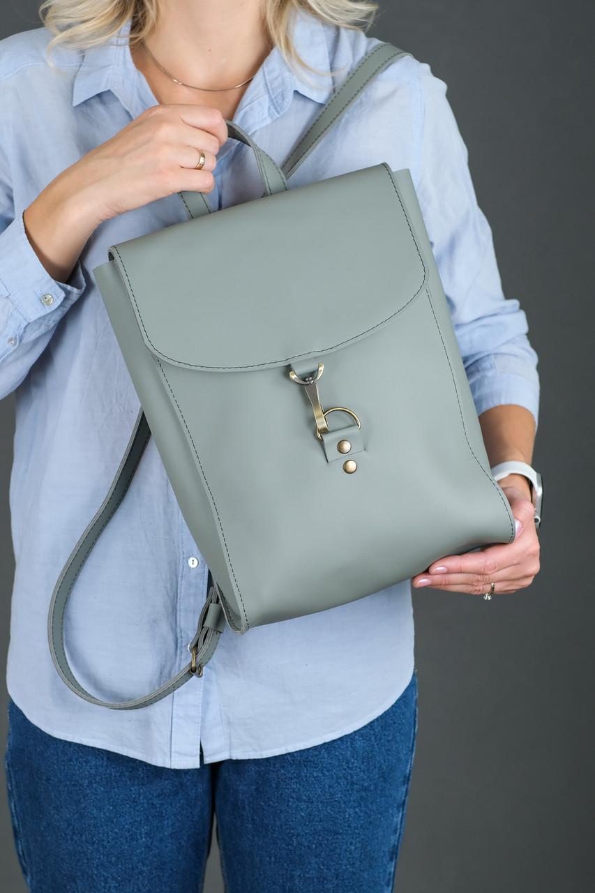 Жіночий шкіряний рюкзак Венеція, розмір середній, натуральна шкіра Grand колір Сірий