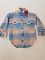 """Рубашка подростковая кашемировая в клетку на девочку 140-158 см (2цв)""""Star Kids""""недорого от прямого поставщика"""