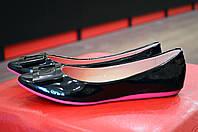 Черные лаковые женские балетки Prima D'Arte, фото 1