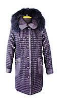 Куртка зимняя, с отделкой мехом песца(размеры 58-70)