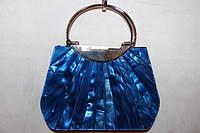 Маленькая дамская сумочка из полимера синяя, фото 1
