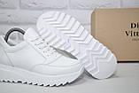 Женские демисезонные белые ботинки на платформе натуральная кожа Dino Vittorio, фото 2