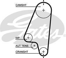 Ремень ГРМ для Aveo 1.5 , Lanos 1.4-1.5 , Astra F , Astra G , Vectra B ,Vectra A ,Kadett E (CONTITECH CT874)