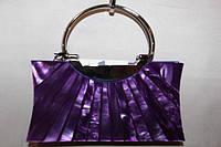 Сумочка женская ридикюль фиолетовая