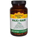 Maxi-Hair Plus 120 капс  Витамины для волос  Country Life USA, фото 2