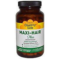 Maxi-Hair 120 капс витамины для волос поливитамины  Country Life USA