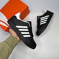 Кроссовки Nike мужские Adidas Gazelle black летние реплика кеды