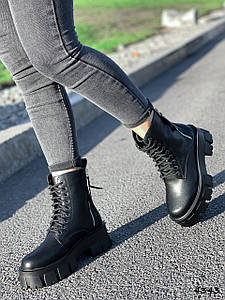 Ботинки женские Gilone черные натуральная кожа ))