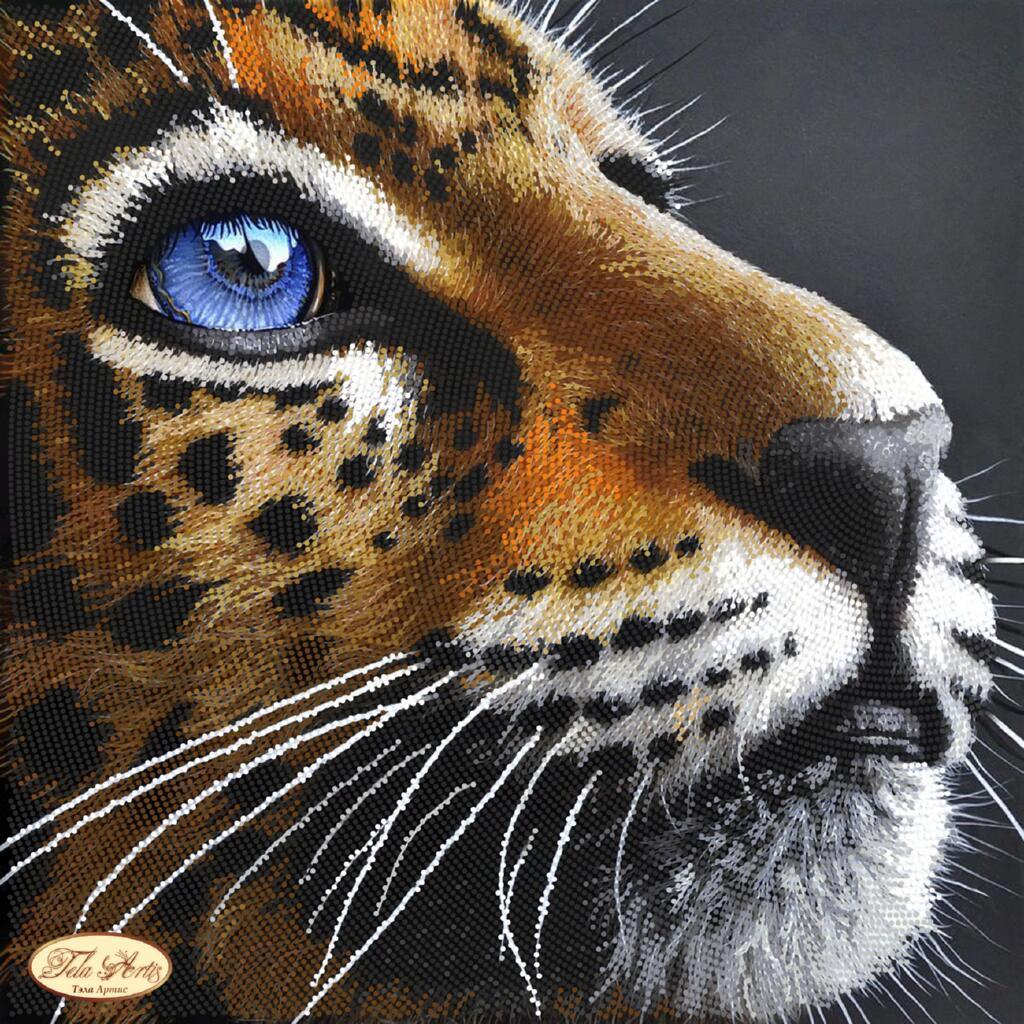 """Рисунок на ткани для вышивания бисером """"Преданность. Тигр"""""""