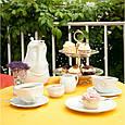 """Фарфоровая чашка с блюдцем для кофе из серии эмоциональной посуды от бренда Tassen """"Усмешка""""  200 мл, фото 9"""