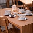 """Фарфоровая чашка с блюдцем для кофе из серии эмоциональной посуды от бренда Tassen """"Усмешка""""  200 мл, фото 10"""