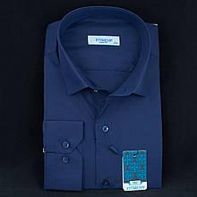 Сорочка чоловіча, приталена (Slim Fit), з довгим рукавом FITMENS/PASHAMEN E.30321 80% бавовна 20% поліестер