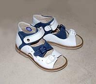 Сандали ортопедические летняя детская обувь Мими (лето) (Белый+синий)#010-30