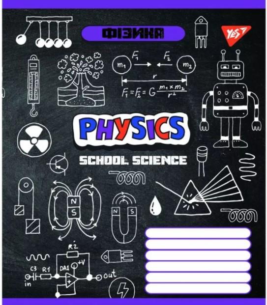 Зошит шкільний в клітинку 48 аркушів Yes, фізика