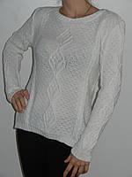 Мягкий женский свитер зимний хлопок + акрил (3 цвета) рр. 44, 46, 48