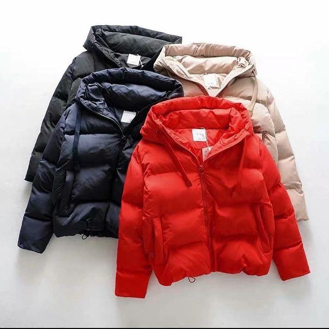"""Жіноча куртка з плащової тканини """"Канада"""" на синтепоні 200 з капюшоном, 42-44, 44-46, червоний, чорний, бежевий"""