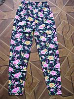 Лосины цветные подростковые для девочек 128.  146. 152 см Турция хлопок