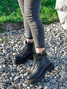 Ботинки женские Nina черный натуральная кожа ))
