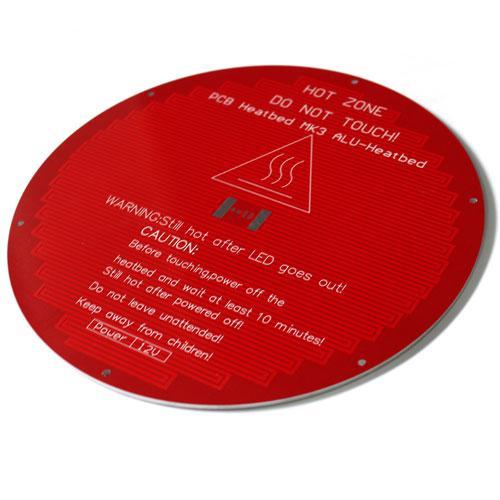 Нагревательная платформа КРУГЛАЯ стол MK3 ALU 12/24В дельта 3D-принтера 2000-03847