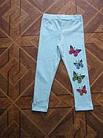 Лосины для девочки 1 - 4 года бабочки Турция  хлопок