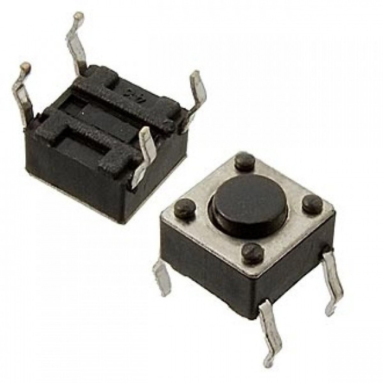 10x Кнопка тактовая, микрик, DIP 4 контакта, 6x6x5мм 2000-02711