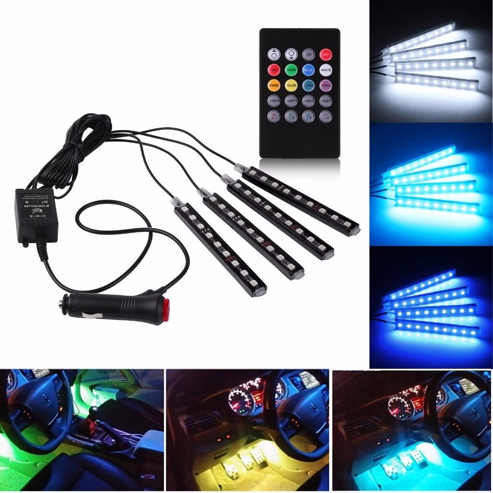 Інтер'єрна підсвічування салону авто з пультом RGB LED 2000-04530