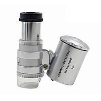Микроскоп карманный 60x с подсветкой 2001-00602