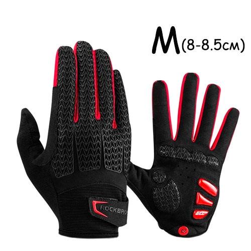 Перчатки велосипедные закрытые гелиевые М, 8-8.5см, RockBros S169-1 2006-04498