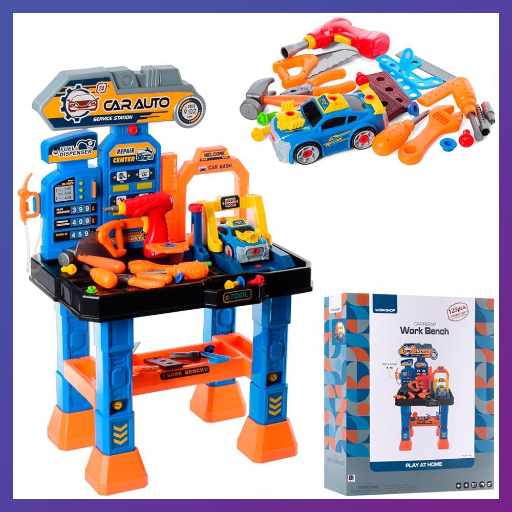 Дитячий ігровий набір інструментів 661-442 стіл з інструментами верстат зі світловими і звуковими ефектами