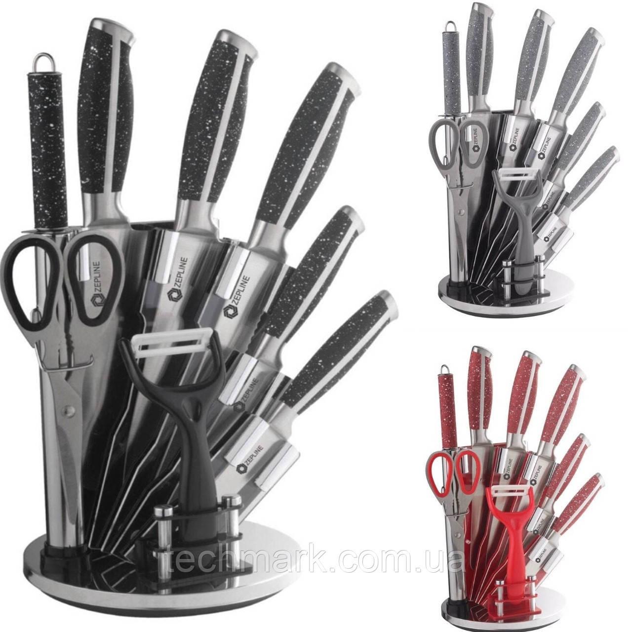 Набір кухонних ножейс підставкою Zepline ZP-027 (з 8 предметів.) ТМ