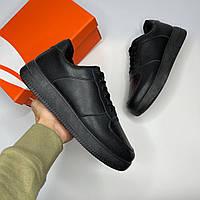 Кроссовки мужские Nike air force black демисезонные реплика Кеды Ботинки adidas