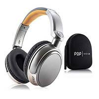 Беспроводные блютуз наушники Amazon Pop Bluetooth Headphones 16 hour battery life (BTX007) Серый