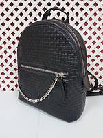 """Женский рюкзак """"Judy"""" max натуральная кожа, черная венето, фото 1"""