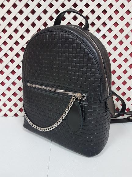 """Женский рюкзак """"Judy"""" max натуральная кожа, черная венето"""