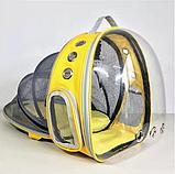 Рюкзак для перенесення тварин прозорий, фото 2