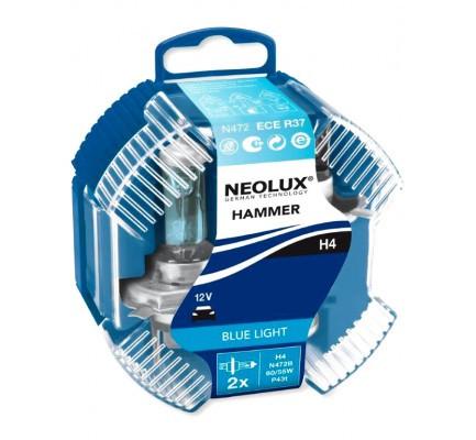 Лампа галогенна NEOLUX BLUE LIGHT H4 12V 60/55W 4000К