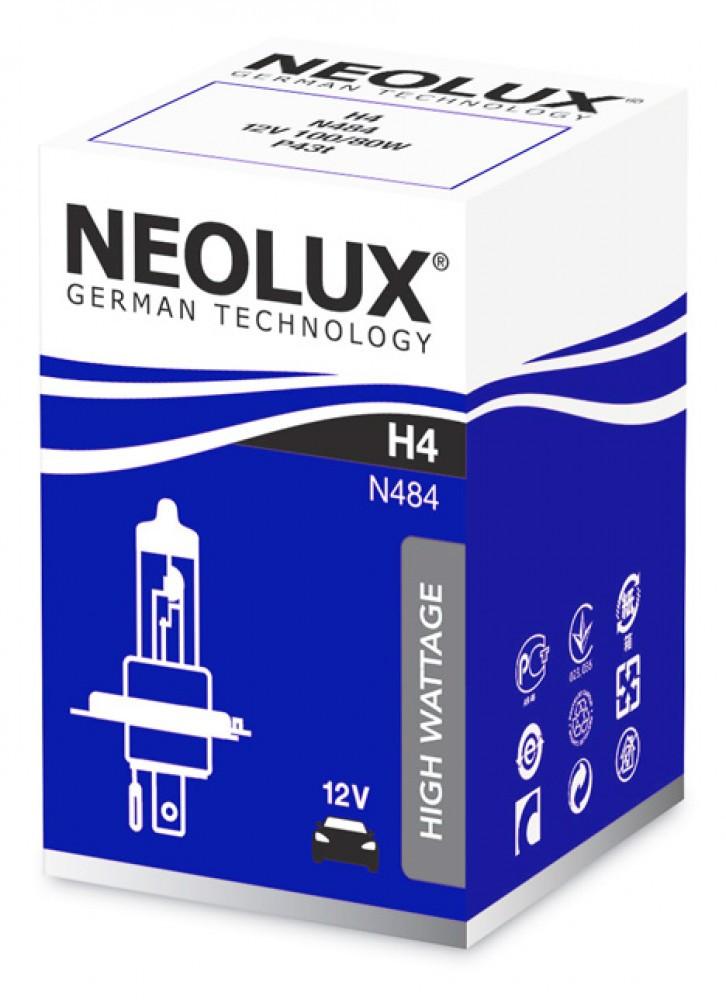 Лампа галогенна NEOLUX H4 POWER LIGHT 100/80W 12V 3200К