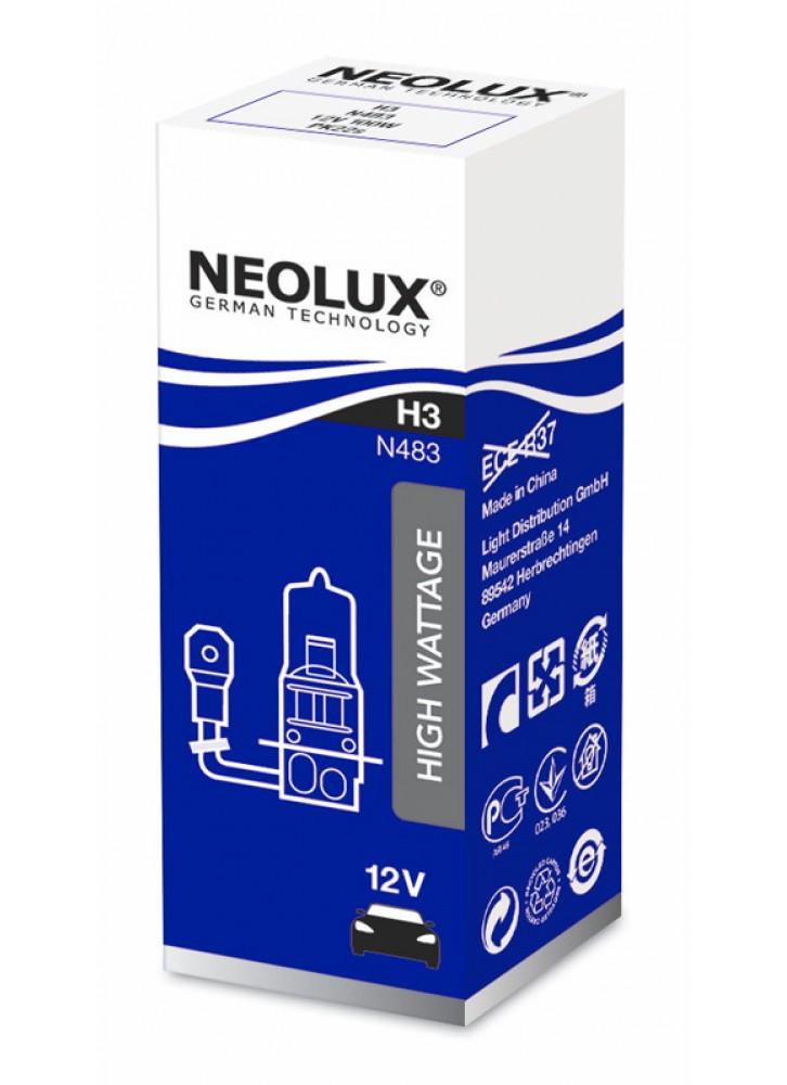 Лампа галогенна NEOLUX POWER LIGHT H3 12V 100W 3200К