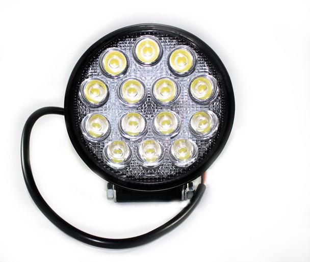 Фара LED дополнительная круглая 42W (широкий луч),