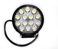 Фара LED дополнительная круглая 42W (широкий луч),, фото 1