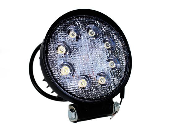 Фара LED дополнительная круглая 12/24В, 24W (белый свет, широкий луч)