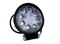 Фара LED дополнительная круглая 12/24В, 24W (белый свет, широкий луч), фото 1