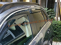 Ветровики с хром кантиком на Mitsubishi ASX