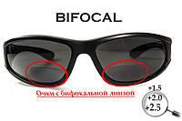 Бифокальные поляризационные защитные очки 3в1 BluWater Winkelman-2 (+2.5) Polarize (gray) серые