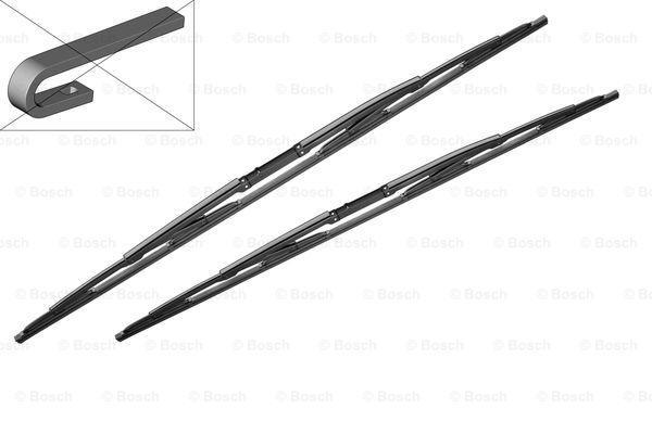 Щетки стеклоочистителя каркасные BOSCH Twin 550х550мм, AUDI A4/S4 00-