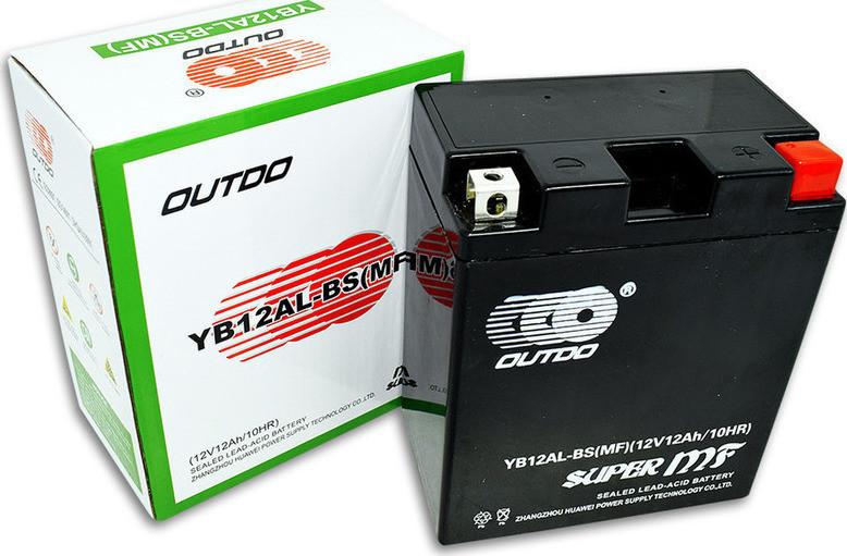 Мото аккумулятор OUTDO12 Ah YB12A-BS MF(FA)