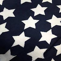 Плед двуспальный пушистый Koloco 180 х 220, 33361, звезды на темно синем
