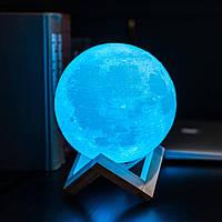 Настольная цветная Лампа Светильник луна 3D Moon Lamp