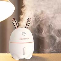 Зволожувач повітря і нічник 2в1 Humidifiers Rabbit, Кролик, Білий